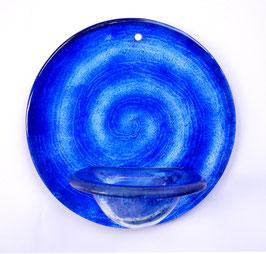 Weihbecken Chakra blau