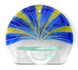 Glas Weihbecken rund mit Fächerstrahlen W9
