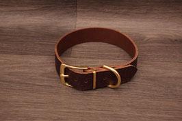 Lederhalsband dunkelbraun
