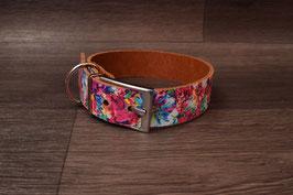 Blumen-Lederhalsband