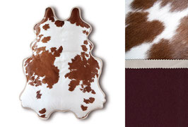 BIG FELLOW lounger, brown & white, underside: bordeaux-red