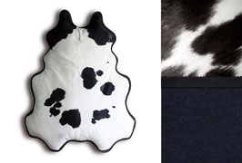 BIG FELLOW lounger, black & white, underside: mottled night-blue