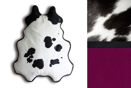 BIG FELLOW lounger, black & white, underside: berry red