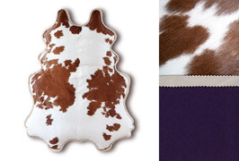 BIG FELLOW lounger, brown & white, underside: purple