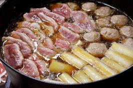 商品名【〆まで美味しい!鴨肉団子も楽しめる!】鴨なべ三昧セット
