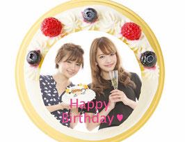 商品名オーダーメード写真ケーキ(生クリーム)15cm(3〜4人用)