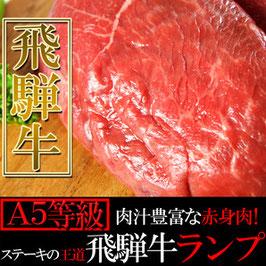 商品名肉汁豊富な赤身肉!ステーキの王道☆飛騨牛【A5等級】ランプ100g×1枚入り