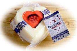 商品名【ミルキーさがたまらない!】コラソン・デ・アマンテ(羊ミルクのハートのチーズ)1個 約270g