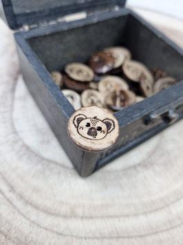 Kokosnussknopf Eigenproduktion - 20mm - 2 Loch Koala