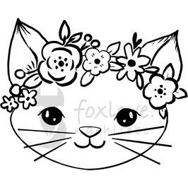 Plotterdatei Katze Daisy