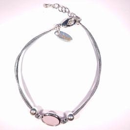Firenze LUSSO armband Roze zilver