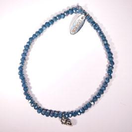 Palermo armband grijsblauw