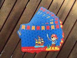10 Einladungskarten Kleiner Pirat