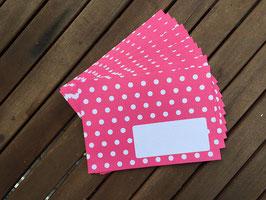 Polkadots Briefumschläge C6 / 10 Stück, pink