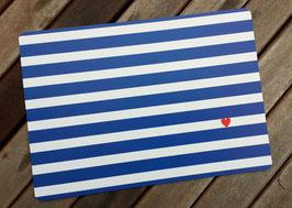 XXL-Postkarte Herz & Streifen