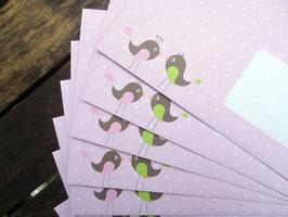 10 Vogelliebe-Briefumschläge