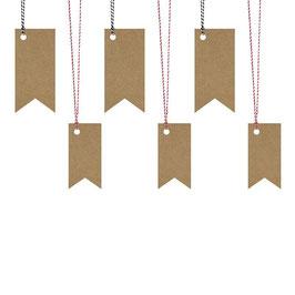 6 x Geschenkanhänger