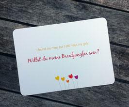"""Postkarte """"Willst du meine Brautjungfer sein?"""""""