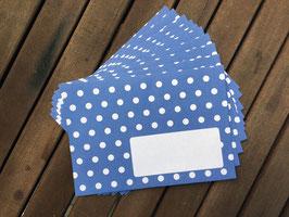Polkadots Briefumschläge C6 / 10 Stück, blau