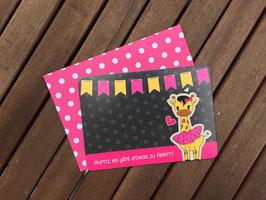 10 Einladungskarten Giraffe