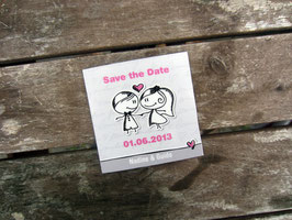 Save the date MAGNET | Männekins grau