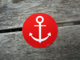 10 ahoi! Aufkleber   rot