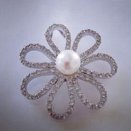 Anhänger in Blumen Form mit Perle