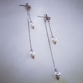 Romantisch Ohrringe mit Perlen