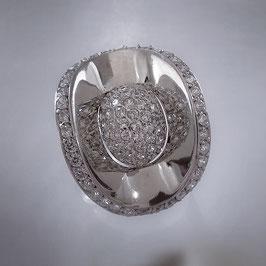 Extravaganter, aufallender Ring mit Zirkonia Steinen