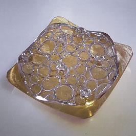 Gelb- und Weißgold Anhänger mit Zirkonia Steinen