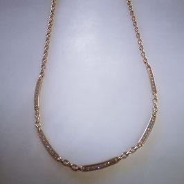 Feine Kette aus Gold mit Zirkonia Steinen