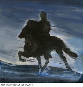 Q 01 Sturmreiter, Pferde - Kunstdruck