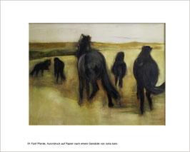 "KDP 001 ""Fünf Pferde"", Kunstdruck"
