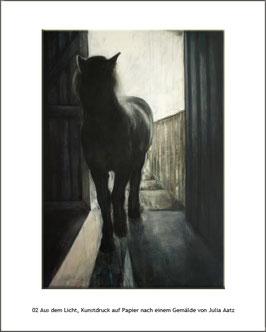 """KDP 002 """"Aus dem Licht"""", Kunstdruck"""