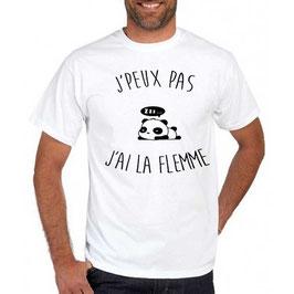 T-shirt j'peux pas j'ai la flemme