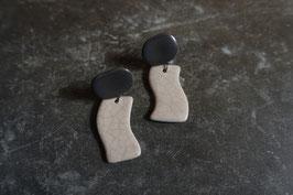 """""""rin"""" ceramic earrings"""