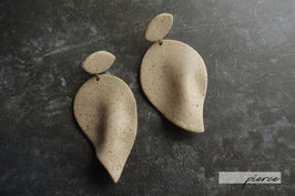 """""""leaf"""" ceramic pierce / earrings"""