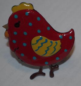 bouton de commode poules à pois