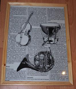 cadre instruments de musique