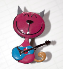 bouton de commode chat guitariste