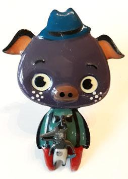 bouton de commode cochon