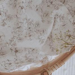 Bio Musselin Tuch Blumen