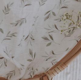 Bio Musselin Tuch Olivenblätter