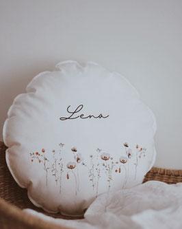 Kissen mit Namen wildflowers