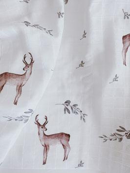 Bio Musselin Tuch deer