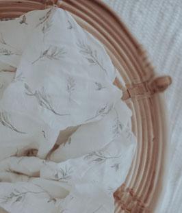 Bio Musselin Tuch mit Blättern