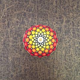 Mandala-Stein strahlende Sonne
