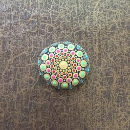 Mandala-Stein Indisch Gold klein