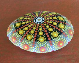 Mandala-Stein Sonnenstrahl