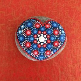 Herzens-Stein Blau-Rot